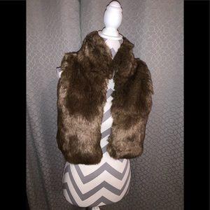 Girls M 8-10 & girls L 12-14 faux fur vests